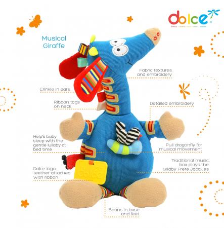 Girafă muzicală, jucărie senzorială1