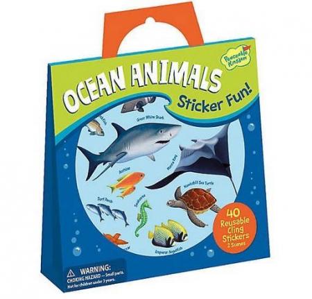 Ocean Animals Reusable Stickers0