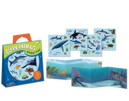 Ocean Animals Reusable Stickers1