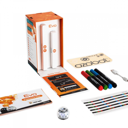 Ozobot Evo smart mini robot - Crystal White:Starter Kit1