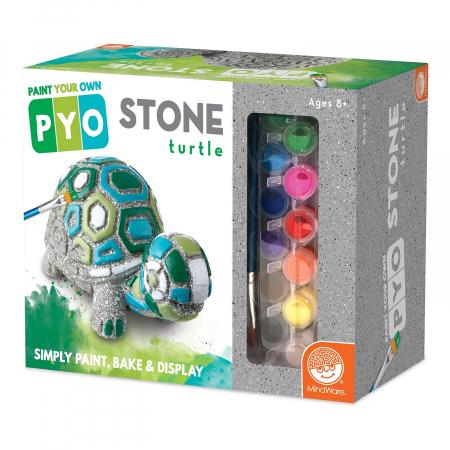 Paint Your Own Stone: Turtle,  decorațiune pentru pictat, din piatră, pentru grădină0