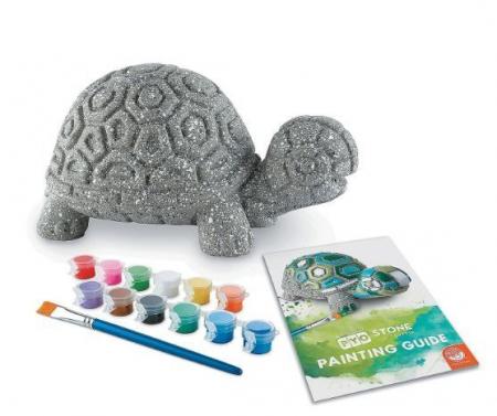 Paint Your Own Stone: Turtle,  decorațiune pentru pictat, din piatră, pentru grădină1