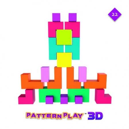 Pattern Play 3D, joc de construcție din lemn, cu structuri 3D [3]