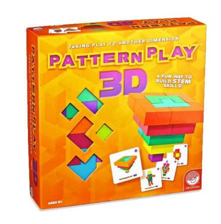 Pattern Play 3D, joc de construcție din lemn, cu structuri 3D [0]