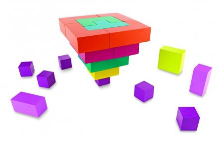 Pattern Play 3D, joc de construcție din lemn, cu structuri 3D [2]