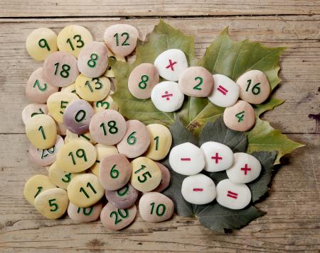 Pietricele cu numere - Set Matematica [1]