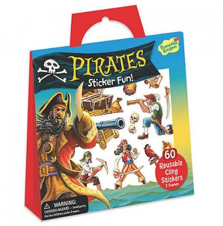 Pirates Reusable Sticker Tote0