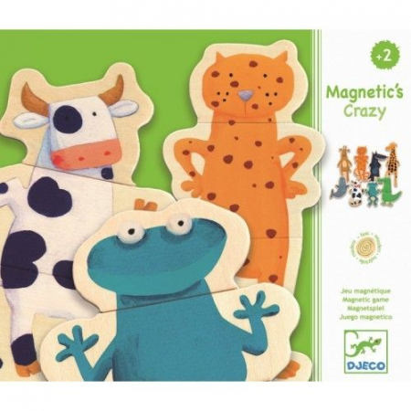 Puzzle cu magneți Animale- amuzante Djeco0