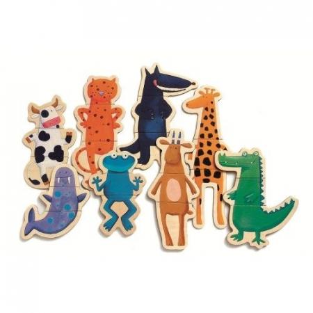 Puzzle cu magneți Animale- amuzante Djeco1
