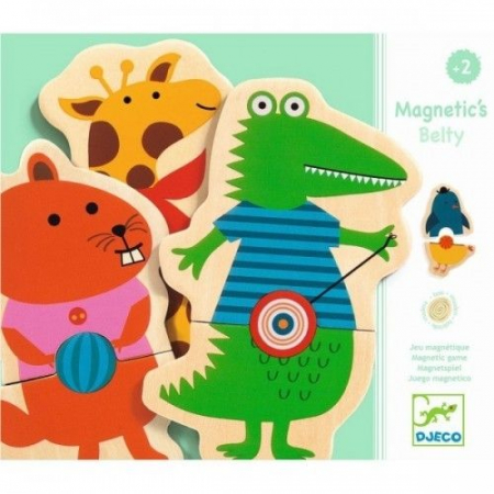 Puzzle cu magneți Animale cu buline Djeco [0]