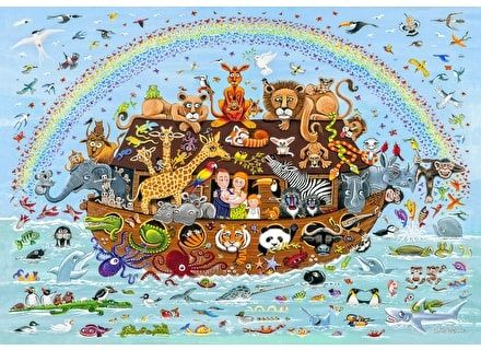 Puzzle din lemn Arca lui Noe - Wentworth-250 piese [2]