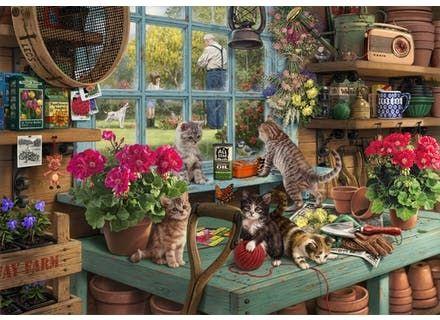 Puzzle din lemn Atelierul bunicului  – Wentworth [0]