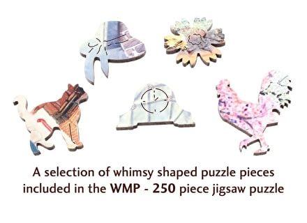 Puzzle din lemn Cabana cu flori– Wentworth2