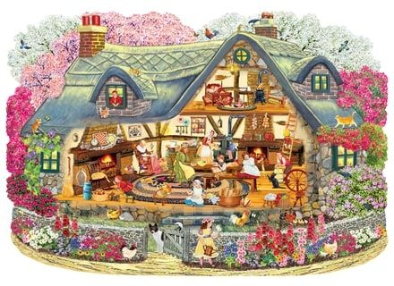 Puzzle din lemn Cabana cu flori– Wentworth0