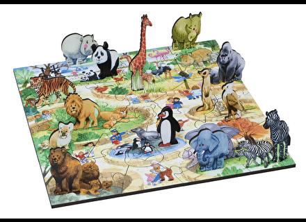 Puzzle din lemn Parcul cu Animale - Wentworth1
