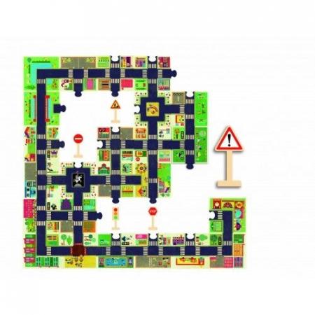 Puzzle gigant Djeco Orașul1