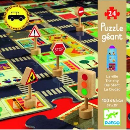 Puzzle gigant Djeco Orașul0