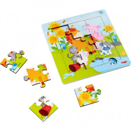 Puzzle din lemn cu animăluțe2
