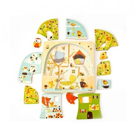 Puzzle lemn copacul Djeco [1]