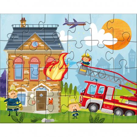 Puzzle Stația de pompieri1