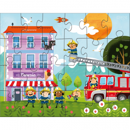 Puzzle Stația de pompieri3