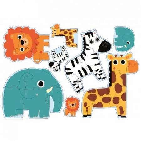 Puzzle progresiv in junglă Djeco [1]