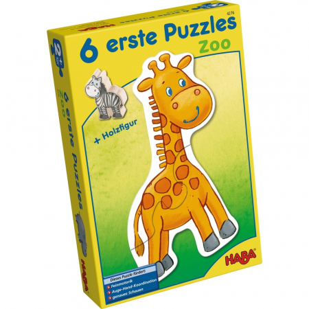Puzzle-uri cu animale: La zoo - Haba0