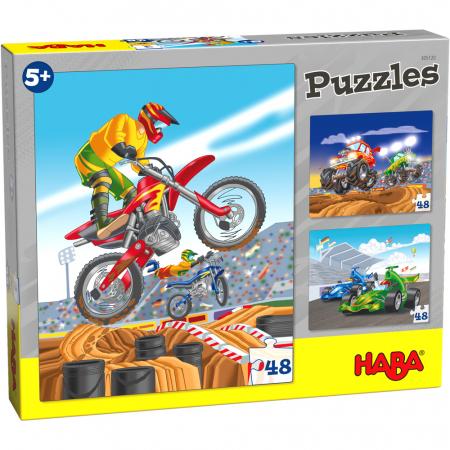 Puzzle ilustrat cu vehicule sportive0