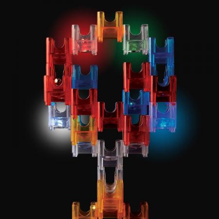 Q-BA-MAZE  2.0: Starter Lights, joc de construcție cu bile și cuburi luminoase4