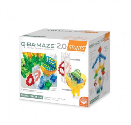 Q-BA-MAZE 2.0 Starter Stunt Set, joc de construcție cu bile0