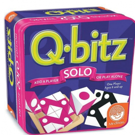 Q-bitz Solo: Magenta Edition, joc educativ cu piese din lemn [0]