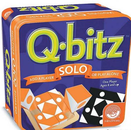 Q-bitz Solo: Orange Edition, joc educativ cu piese din lemn0