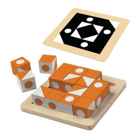 Q-bitz Solo: Orange Edition, joc educativ cu piese din lemn1