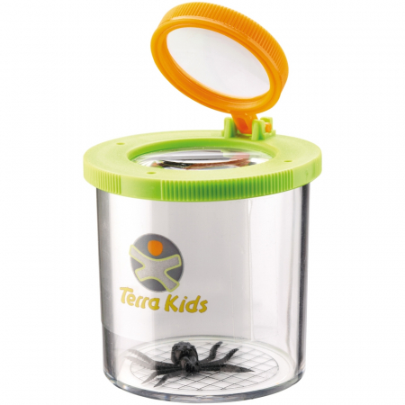 Recipient cu capac și lupă pentru prinderea și cercetarea insectelor - Haba0