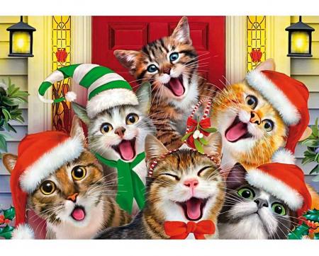 Selfie cu pisici, puzzle din lemn Wentworth0