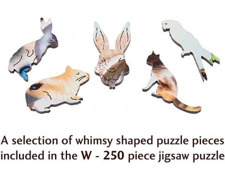 Selfie de iarnă cu animale, puzzle din lemn Wentworth2
