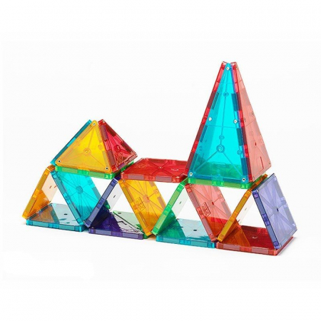 Set magnetic Clear Colors Magna-Tiles (32 piese)1
