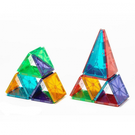 Set magnetic Clear Colors Magna-Tiles (32 piese)3