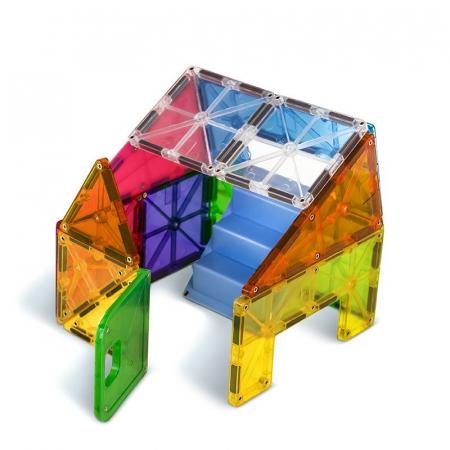 Set magnetic cu autocolante Magna-Tiles House (28 piese)3
