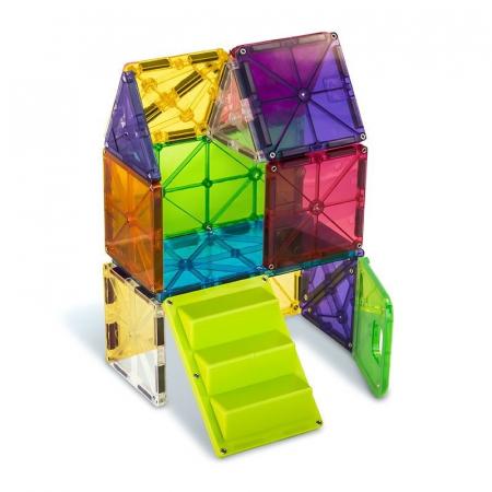 Set magnetic cu autocolante Magna-Tiles House (28 piese)4