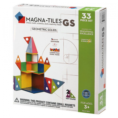 Set magnetic Geometric Solids Magna-Tiles (33 piese)0