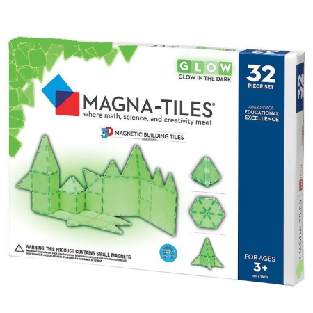 Set magnetic GLOW fosforescent Magna-Tiles (32 piese)0
