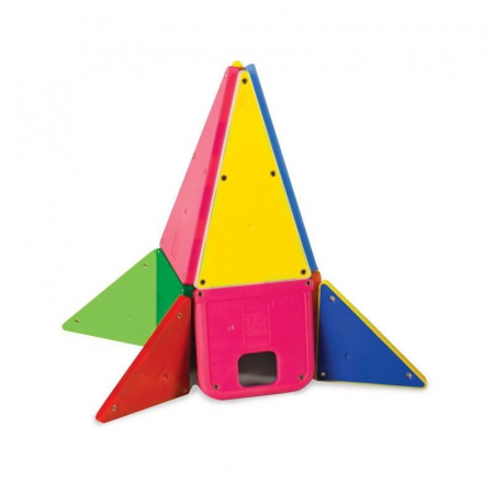 Set magnetic Solid Colors Magna-Tiles (48 piese)3