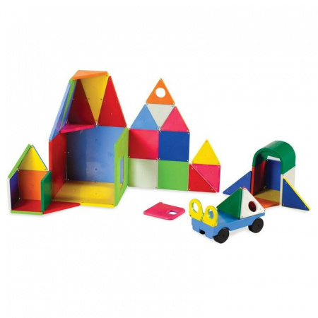 Set magnetic Solid Colors Magna-Tiles (48 piese)1