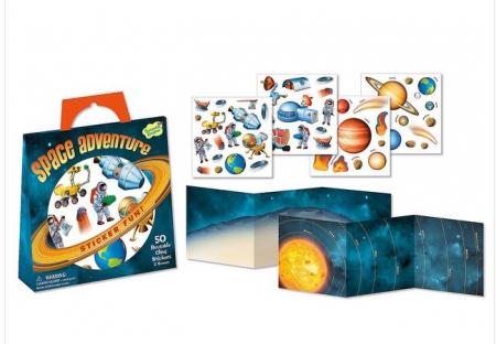 Space adventure - gentuță cu abțibilduri reutilizabile0