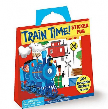 Train Time Reusable Stickers0