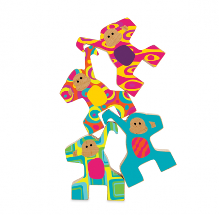 Wild Ways: Stacking Monkeys - joc de echilibru din lemn1