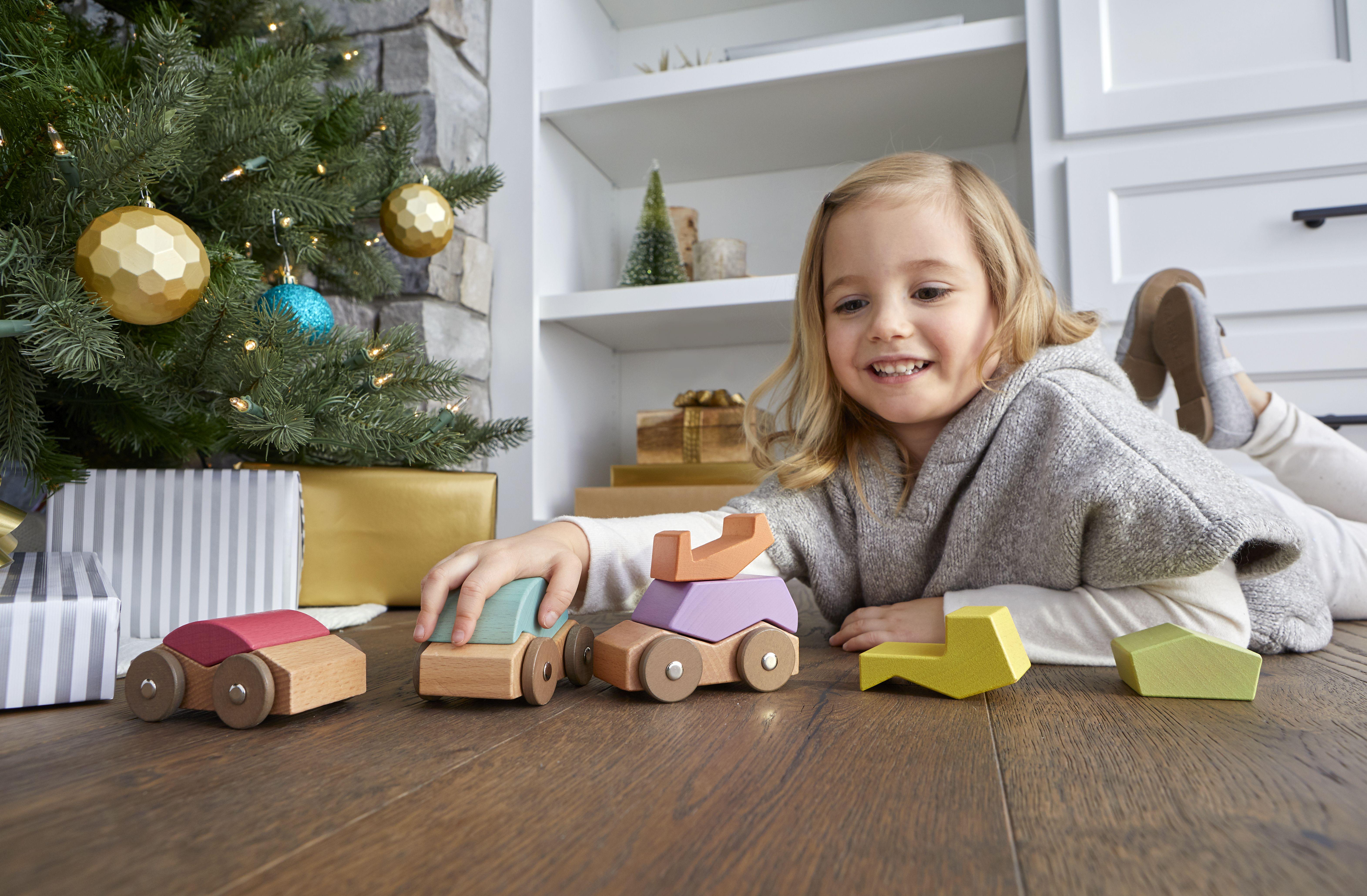 Babu ™ Rollers, set de mașinuțe din lemn 1