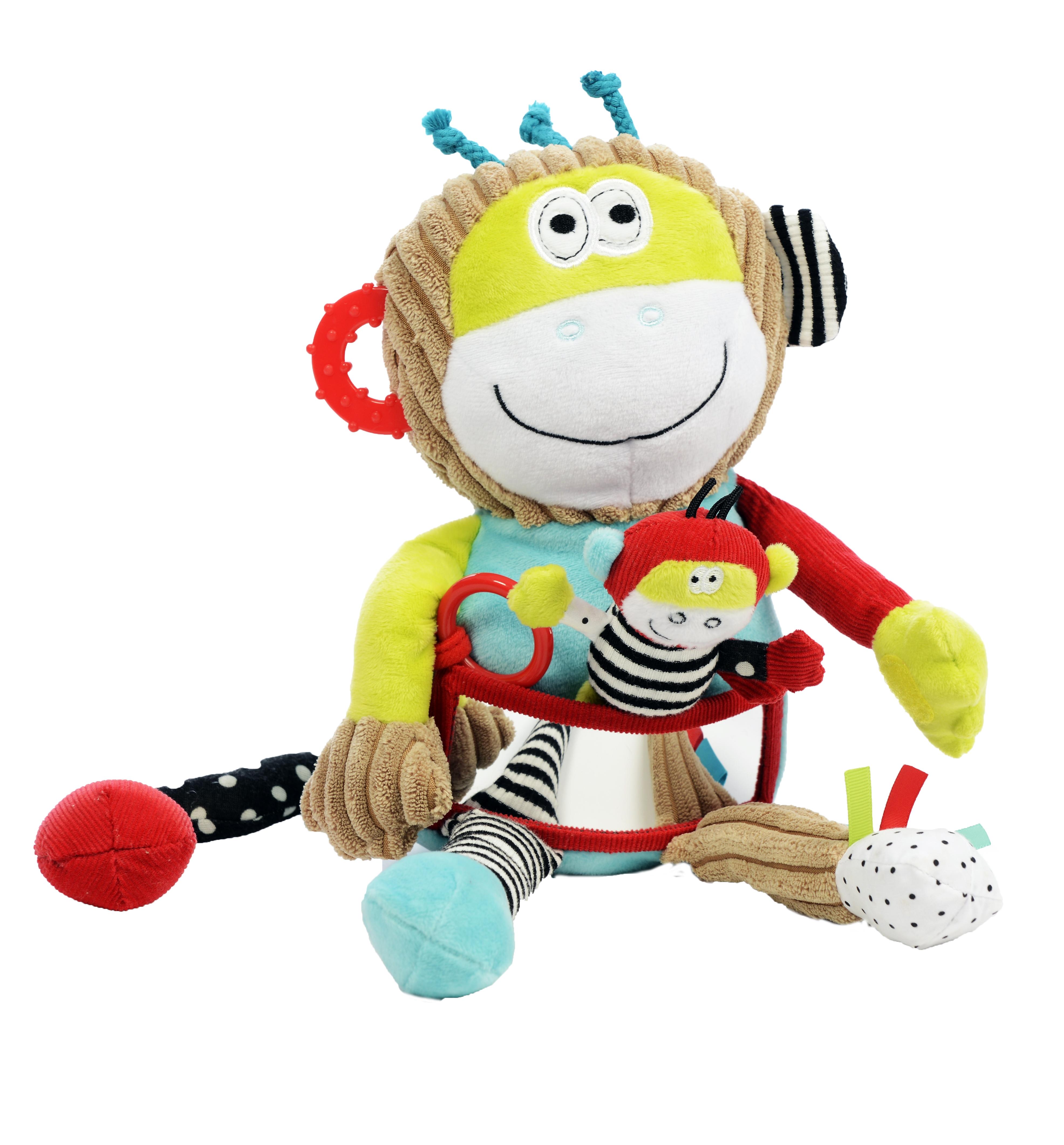 Maimuță cu pui, jucărie senzorială 1