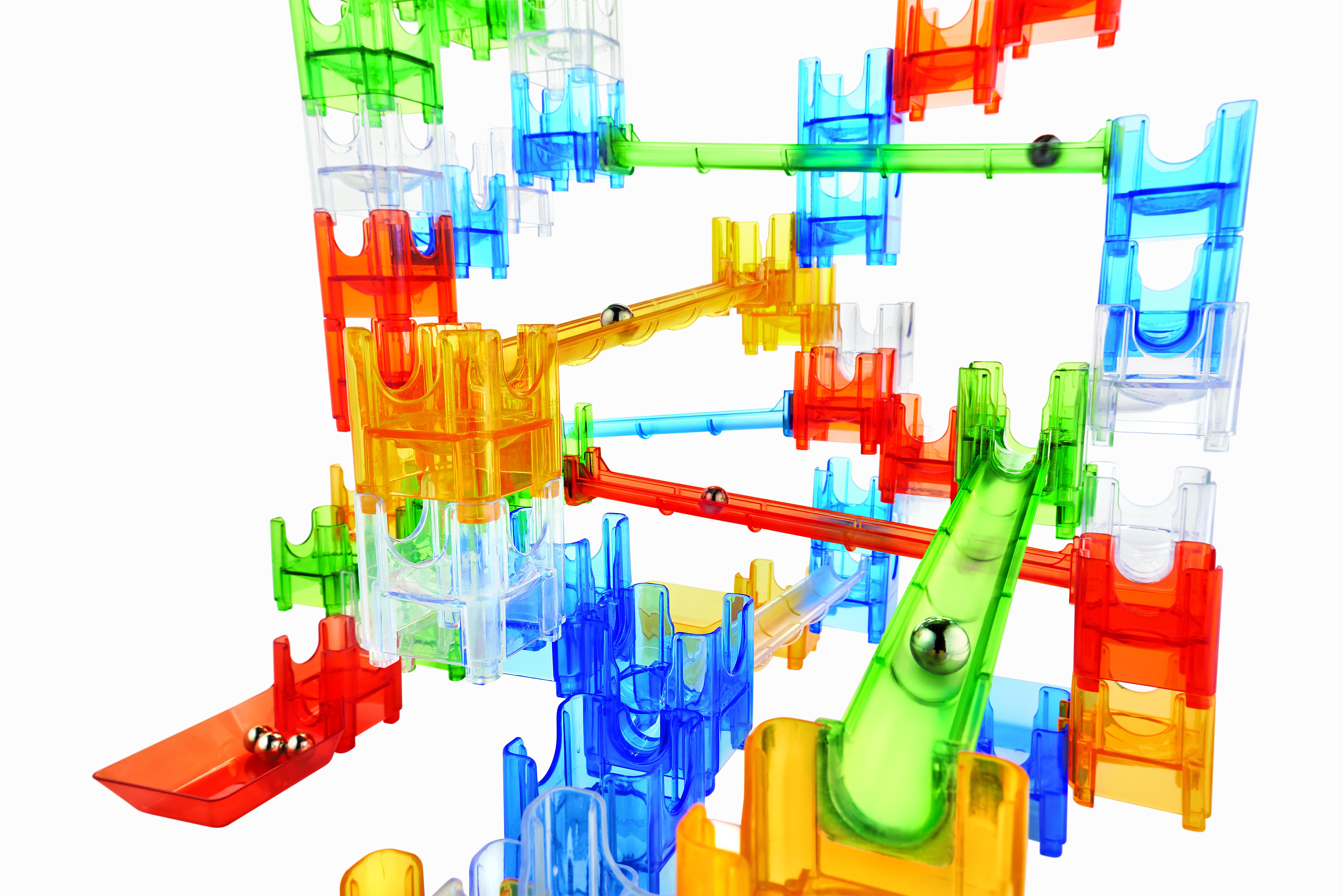 Q-BA-MAZE 2.0: Rails builders set, joc de construcție cu șine și bile2
